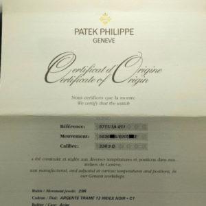 Patek Philippe Nautilus REF 5711 White Dial New Old Stock 6