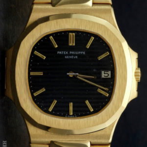 Patek Philippe Nautilus ref 3700:1 18k yellow gold with extract of archive 1