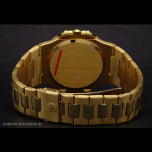 Patek Philippe Nautilus ref 3700:1 18k yellow gold with extract of archive 2