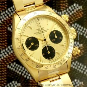 Rolex Daytona ref 6265 18k yellow gold1