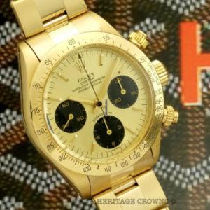 Rolex Daytona ref 6265 18k yellow gold2