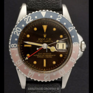 Rolex GMT-Master ref 1675 Gilt Chapter Ring Tropical Brown Dial1