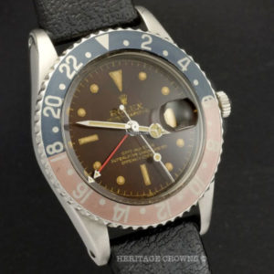Rolex GMT-Master ref 1675 Gilt Chapter Ring Tropical Brown Dial4