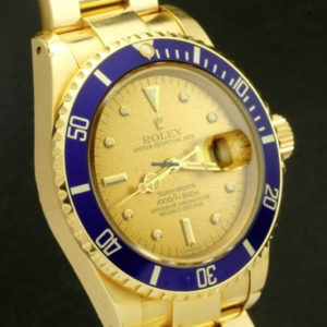 Rolex Submariner ref 16808, lemon tropical dial unpolished4